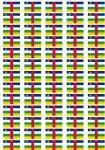 Central African Republic Flag Stickers - 65 per sheet